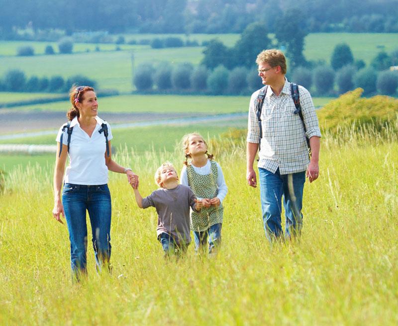 Tourismus in Hörstel spazieren im Feld