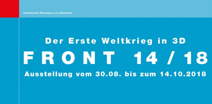 Verlängert: Ausstellung Front 14/18 läuft noch bis zum 28. Oktober 2018