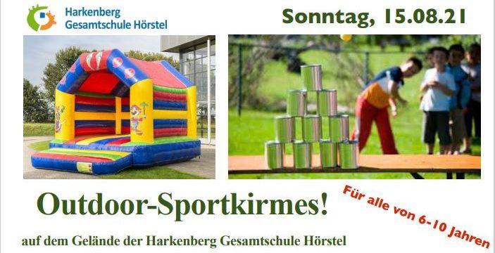 Outdoor-Sportkirmes an der Harkenberg Gesamtschule am 15. August 2021