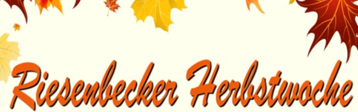 Riesenbecker Herbstwoche vom 24. – 30. September 2021