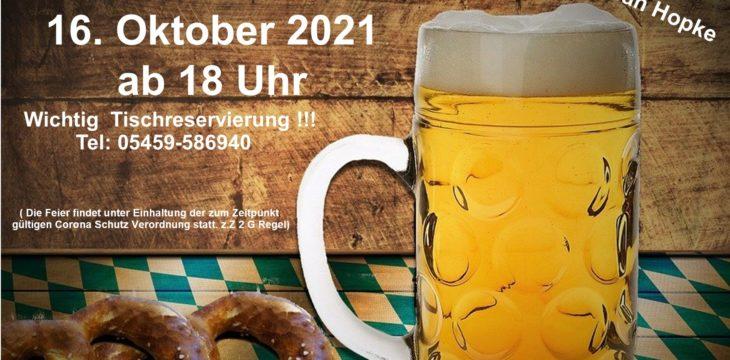 Oktoberfest im Seestübchen am 16. Oktober 2021